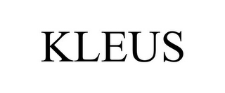 mark for KLEUS, trademark #85481663