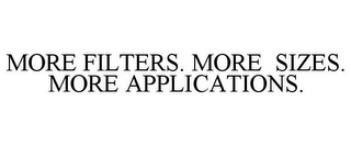 mark for MORE FILTERS. MORE SIZES. MORE APPLICATIONS., trademark #85482349