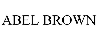 mark for ABEL BROWN, trademark #85483040