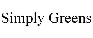 mark for SIMPLY GREENS, trademark #85483147
