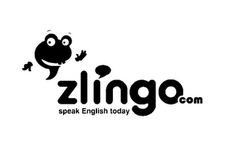 mark for ZLINGOCOM SPEAK ENGLISH TODAY, trademark #85483519