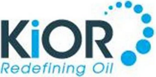 mark for KIOR REDEFINING OIL, trademark #85485663