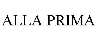 mark for ALLA PRIMA, trademark #85486697