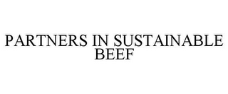 mark for PARTNERS IN SUSTAINABLE BEEF, trademark #85487987