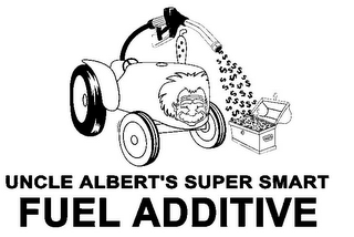 mark for UNCLE ALBERT'S SUPER SMART FUEL ADDITIVE $ $ $ $ $ $ $ $ $ $ $ $ $ $ $ $ $ $ $ $ $ $ $ $ $, trademark #85489217