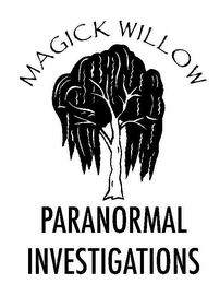 mark for MAGICK WILLOW PARANORMAL INVESTIGATIONS, trademark #85489285