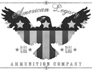 mark for AMERICAN LEGACY AMMUNITION COMPANY MADE IN THE USA MADE IN THE USA, trademark #85491733