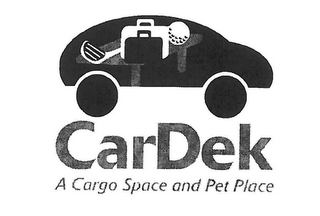 mark for CARDEK A CARGO SPACE AND PET PLACE, trademark #85493014