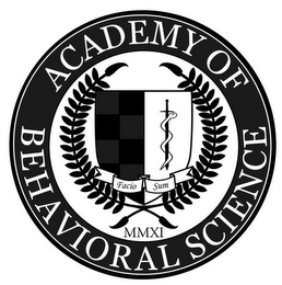 mark for ACADEMY OF BEHAVIORAL SCIENCE FACIO SUM MMXI, trademark #85494462