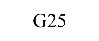 mark for G25, trademark #85494472