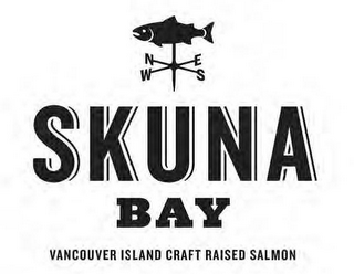 mark for SKUNA BAY VANCOUVER ISLAND CRAFT RAISED SALMON, trademark #85495355