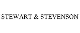mark for STEWART & STEVENSON, trademark #85496379
