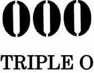 mark for 000 TRIPLE O, trademark #85497455