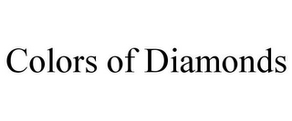 mark for COLORS OF DIAMONDS, trademark #85497810