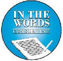 mark for IN THE WORDS CONSULTING, trademark #85498266