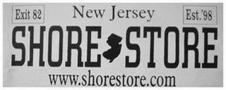 mark for EXIT 82 NEW JERSEY EST. '98 SHORE STORE WWW.SHORESTORE.COM, trademark #85500924