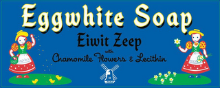 mark for EGGWHITE SOAP EIWIT ZEEP WITH CHAMOMILE FLOWERS & LECITHIN, trademark #85502914