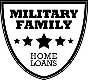 mark for MILITARY FAMILY HOME LOANS, trademark #85503130