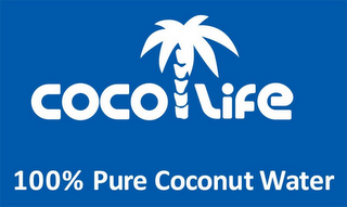 mark for COCOLIFE 100% PURE COCONUT WATER, trademark #85503972