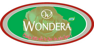 mark for W WONDERA NTN CHAM DUT NOI LO LAN DA CUA BAN, trademark #85504607