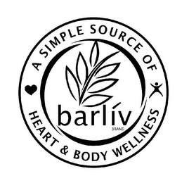 mark for A SIMPLE SOURCE OF HEART & BODY WELLNESS BARLIV BRAND, trademark #85505136