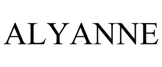 mark for ALYANNE, trademark #85506992