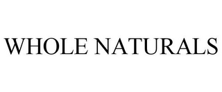 mark for WHOLE NATURALS, trademark #85507119
