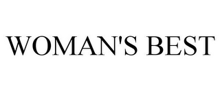 mark for WOMAN'S BEST, trademark #85508461