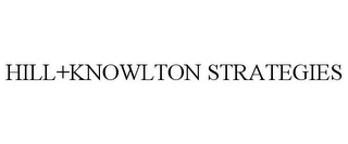 mark for HILL+KNOWLTON STRATEGIES, trademark #85509101