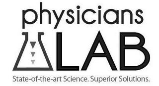 mark for PHYSICIANS LAB STATE-OF-THE-ART SCIENCE. SUPERIOR SOLUTIONS., trademark #85509645