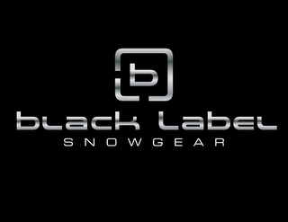 mark for B BLACK LABEL SNOWGEAR, trademark #85510350