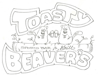 mark for TOASTY BEAVER'S SPORTS BAR & GRILL, trademark #85511383