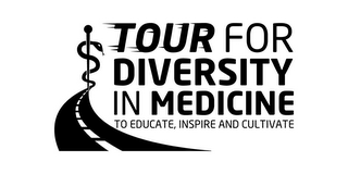 mark for TOUR FOR DIVERSITY IN MEDICINE TO EDUCATE, INSPIRE AND CULTIVATE, trademark #85512677