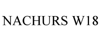 mark for NACHURS W18, trademark #85512793