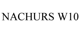 mark for NACHURS W10, trademark #85512812