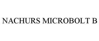 mark for NACHURS MICROBOLT B, trademark #85512971