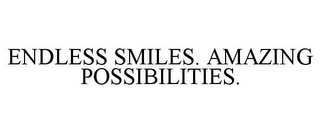 mark for ENDLESS SMILES. AMAZING POSSIBILITIES., trademark #85513235