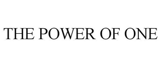 mark for THE POWER OF ONE, trademark #85514852