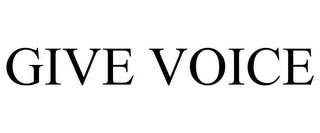 mark for GIVE VOICE, trademark #85514966