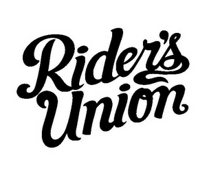 mark for RIDER'S UNION, trademark #85515399
