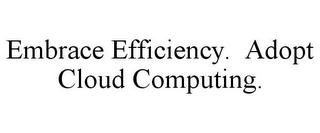 mark for EMBRACE EFFICIENCY. ADOPT CLOUD COMPUTING., trademark #85515919
