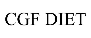 mark for CGF DIET, trademark #85516352
