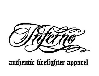 mark for INFERNO AUTHENTIC FIREFIGHTER APPAREL, trademark #85518221