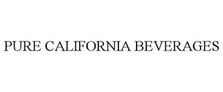 mark for PURE CALIFORNIA BEVERAGES, trademark #85519935