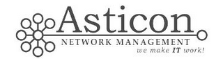 mark for ASTICON NETWORK MANAGEMENT WE MAKE IT WORK!, trademark #85520073