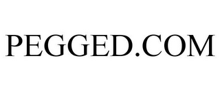 mark for PEGGED.COM, trademark #85521019