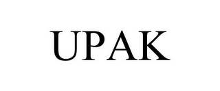mark for UPAK, trademark #85521426