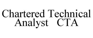 mark for CHARTERED TECHNICAL ANALYST CTA, trademark #85521432