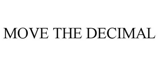 mark for MOVE THE DECIMAL, trademark #85521785