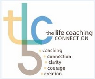 mark for TLC5 THE LIFE COACHING CONNECTION COACHING CONNECTION CLARITY COURAGE CREATION, trademark #85522020